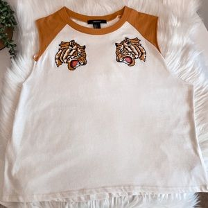 Forever 21 Double Tiger Crop Top
